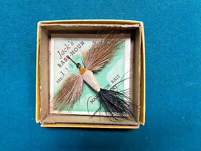 Vintage Jack's Bass-Houn Deer Hair in Orig. Box on Card.