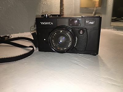 Vintage Yashica 35MF Camera with Leather Case