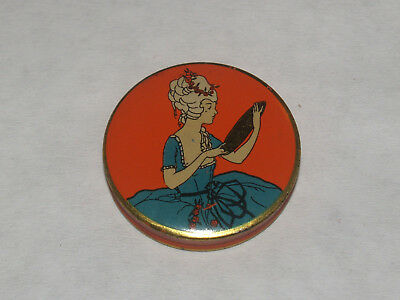 Antique Advertising Art Deco Sample Face Powder Tin Poudre Jarvaise Perfumer