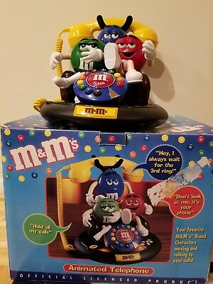 M&M's Candy Characters Animated Talking Telephone Phone Red Green Collectible