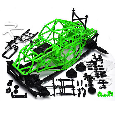 NEW Axial SMT10 Grave Digger Rolling Chassis Axles Frame Green Crawler Roller