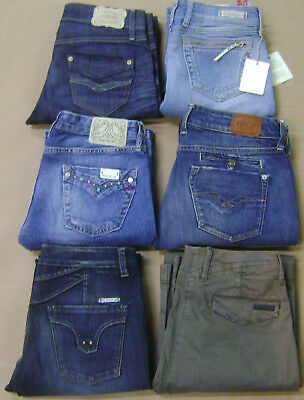 NEW Lot of 6 Pairs of Replay Womens Jeans sz 28W x 32L $1080