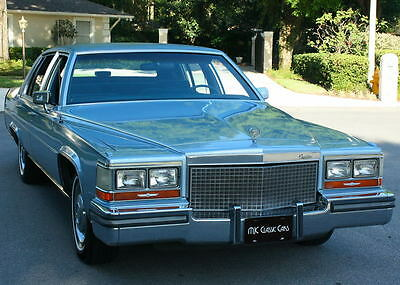 1988 Cadillac Brougham TWO OWNER - MINT - 5.0L V-8 - 60K MILES FLORIDA TWO OWNER SURVIVOR -1988 Cadillac Brougham - 60K ORIG MI