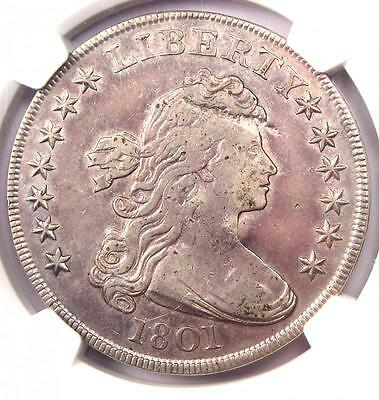 1801 Draped Bust Silver Dollar $1 - NGC VF Details (Very Fine) - Rare Coin!