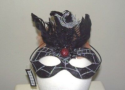 SPIDER MASK Halloween Costume Accessory NEW Glittered Party Fun