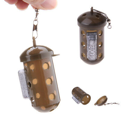 Carp Fishing Feeder Bait Cage Lure Pit Device with Lead Pellet R1BO