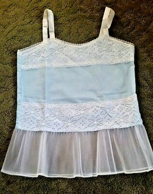 VINTAGE 1950 1960 CHILDS CHILDREN Girls FULL DRESS SLIP size 4
