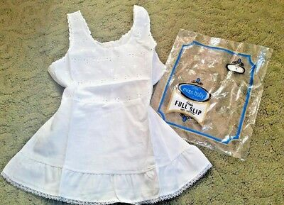 VINTAGE 1950 1960 Little Miss Holly Girls FULL DRESS SLIP Size 4 ~ Eyelet bodice