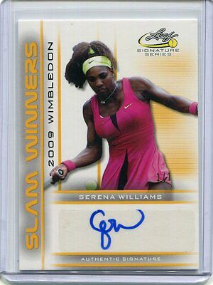 2017 Leaf Signature Series Tennis Serena Williams Slam Winners Gold Auto 1/1