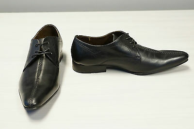 Base London Black Leather Lace-up - US Size 7 1/2 (New without Box)