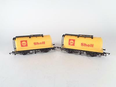HORNBY R132 Yellow Monobloc Tank Wgn SHELL - EXCL PAIR