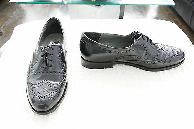 Black Leather Wing Tip Shoes by Expression for Men