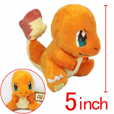 "5"" Cute Pokemon Charmander Soft Plush Doll Toy"