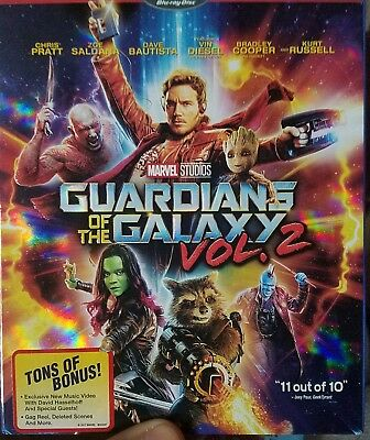 Guardians of the Galaxy Vol. 2 (Blu-ray + DVD + Digital, Unopened)