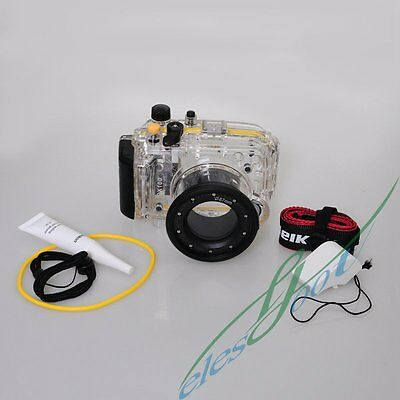 Meikon 40m/130ft Waterproof Housing Case For Sony RX100 Diving Swimming【IE】