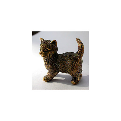 Solid Bronze Cat miniature by N.Fedosov.