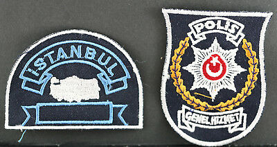 Obsolete Turkey National Police General Duty & Istanbul Police Shoulder Patches