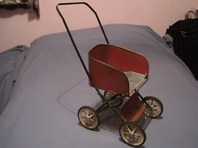 Vintage Old Doll Baby Buggy by Muskin Mfg. Co. Metal Folding No Reserve
