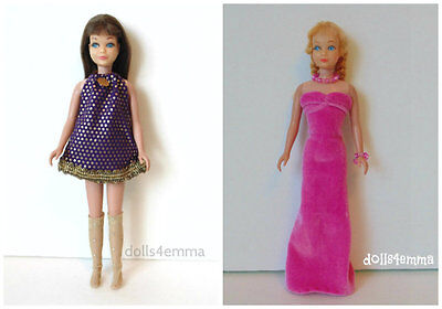 Vintage SL SKIPPER CLOTHES Lot #13 Dress, Stockings, Gown & Jewelry NO DOLL d4e