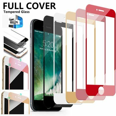 3D Curved Full Cover Tempered Glass Screen Protector For iPhone 10 X 6s 7 8 Plus