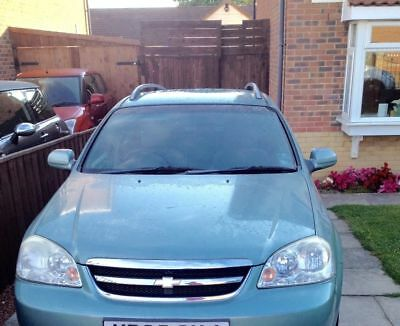 Chevrolet Lacetti, 2005 (05) Green Estate, Manual Petrol, 70,000 miles