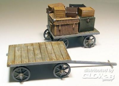 Plus model Railway car on baggages Resin Bausätze 1:35