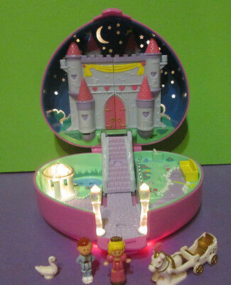 Polly Pocket Mini ♥ Herz Schloss ♥ Starlight Castle ♥ 100% Komplett ♥ 1992 ♥