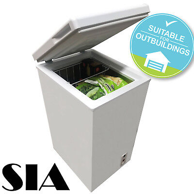 SIA CFR60WH 67L Slimline Freestanding White Chest Freezer A+ Energy Rating