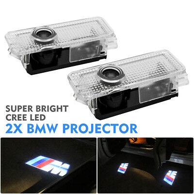 2x CREE LED Door Light For BMW Project Puddle Ghost Laser Courtesy LOGO Light AU
