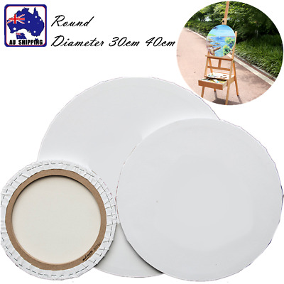5pcs Round Blank White Stretched Canvas Wood Frame Paint Board 30cm 40cm SMUK674