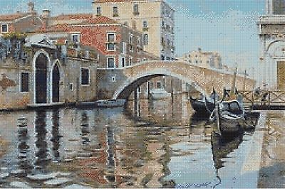 Venetian Canal - Counted Cross Stitch Chart