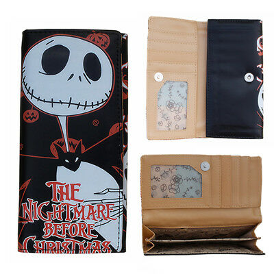 New Wallet Nightmare Before Christmas Jack Skellington Long Purse Xmas Gift