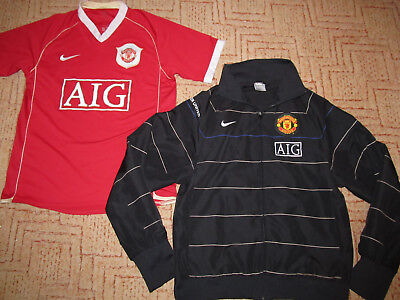 2006 2007 Manchester United Fußball Trikot Trainingsjacke Football Shirt Nike S