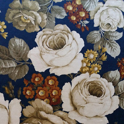 Large Amount of Genuine Vintage Pretty Retro Floral Sanderson Sibyl Fabric