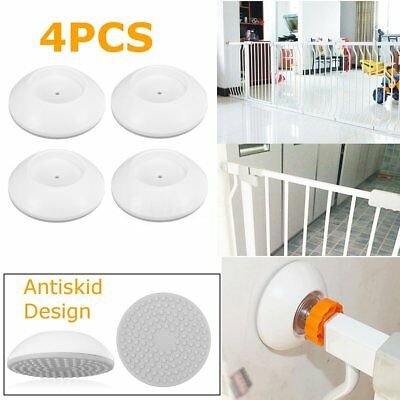 4Pcs White Wall Guard Pads Saver for Baby Dog Puppy Pressure Safety Gates