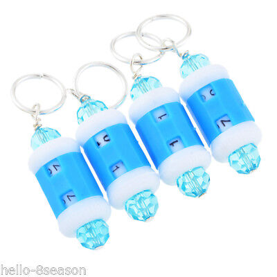 4PCs Stitch Marker and Row Counter TWO in ONE 10mm