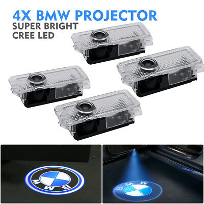 4x CREE LED Door Light For BMW Project Puddle Ghost Laser Courtesy LOGO Light AU