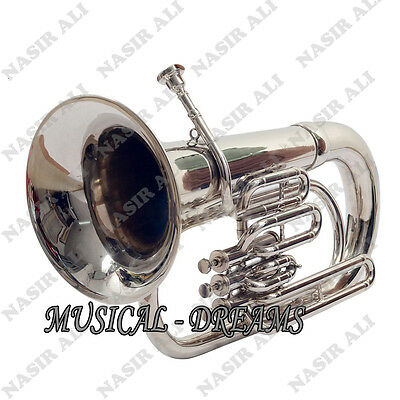 CHRISTMAS SALE EUPHONIUM Bb PITCH NICKEL SILVER WITH FREE HARD CASE AND MP