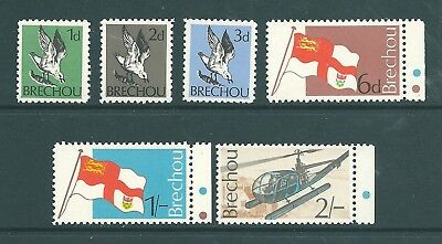 GB Locals - BRECHOU, Sark 1970 definitive set
