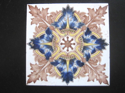 Old 6X6  Inch Vintage  Ceramic Wall Tile