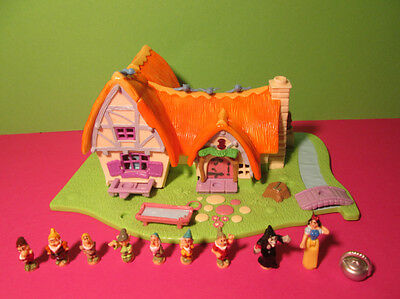 Polly Pocket Mini Disney ♥ Schneewittchen ♥ Snow White ♥ 100 % Komplett ♥ 1995 ♥