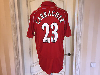 2006 2008 Liverpool Fußball Trikot England Football Shirt Adidas L #23 Carragher