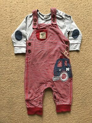 Next Baby Boys Outfit Dungarees 6-9 Months Worn Once