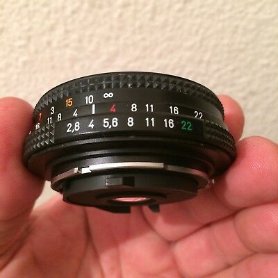 Objectif Zeiss Contax Tessar 2,8/45 MM perfect working