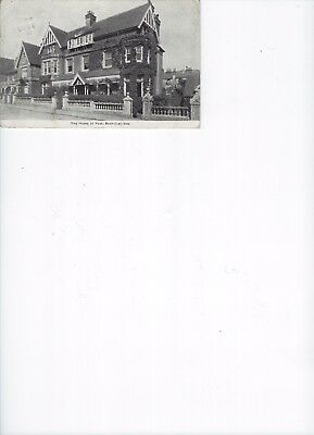 """1915 postcard """"The Home of Rest, Bexhill-on-Sea"""""""