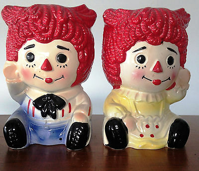 vintage Raggidy Ann and Andy vases