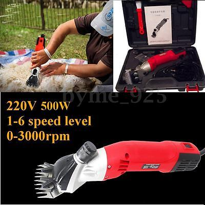 500W 6 Speed Electric Sheep Shearing Supplies Goats Clipper Shear Shears Alpaca