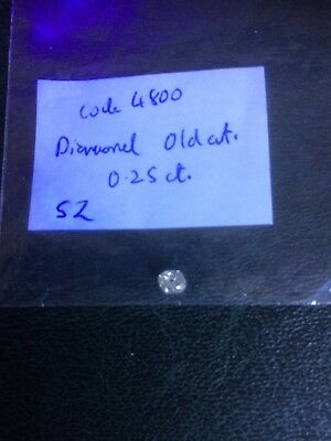 Loose Diamond. Old Cut. 0.25 ct