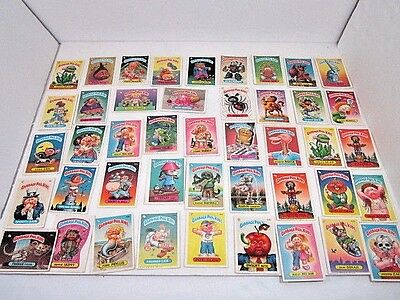 Vintage Lot Of 44 Mostly Different Garbage Pail Kids Sticker Cards Topps 1986