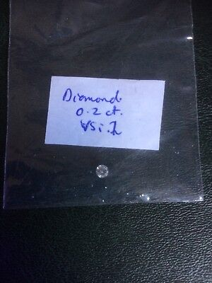 Loose Diamond. Round brilliant cut 0.2 ct